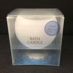 Floating Relaxation Bath Candle Aquamarine or Rose